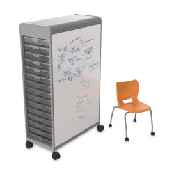 Smith System Cascade Two-Sided Whiteboard - 3'' Trays