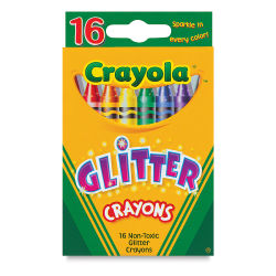 Glitter Crayons, Set of 16