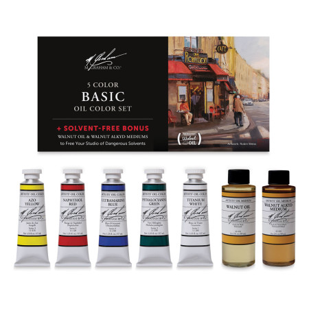 M. Graham Solvent Free Oils - Oil Color set with FREE Mediums