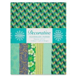 Shizen Decorative Paper - 8-1/2'' x 11'', Turquoise/Teal