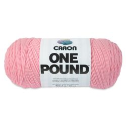 Caron One Pound Acrylic Yarn - 1 lb, 4-Ply, Soft Pink
