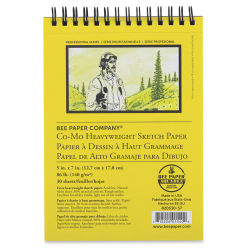 Bee Paper Co-Mo Sketch Pad - 5'' x 7'', 30 Sheets
