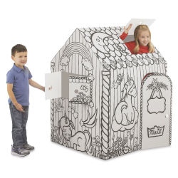 Bankers Box Cardboard Playhouse