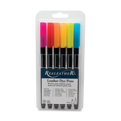 Realeather Leather Dye Pens - Bright Colors, Set of 6