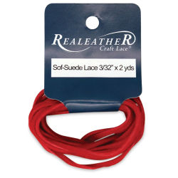 Suede Lace - 3/32'' x 6 ft, Red