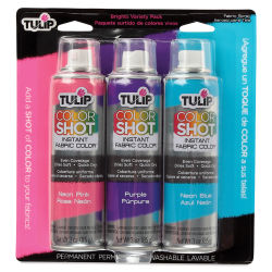 Tulip ColorShot Instant Fabric Color Spray - Bright Colors, Set of 3