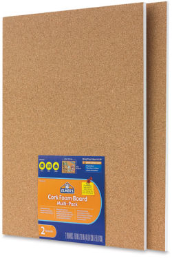 Cork Foamboard, Pkg of 2 Sheets