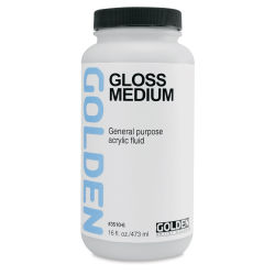 Golden Polymer Medium - Gloss, 16 oz bottle