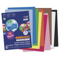 Pacon Riverside 3D Construction Paper - 9'' x 12'', Assorted, 50 Sheets