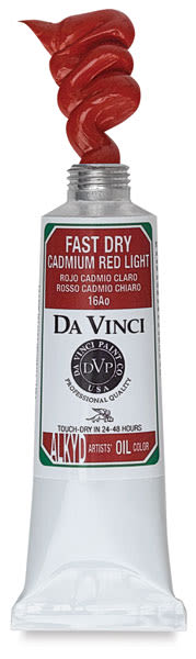 Da Vinci Professional Fast-Dry Alkyds - Cadmium Red Light, 40 ml Tube