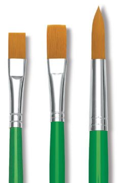 Blick Economy Golden Taklon Brushes and Sets