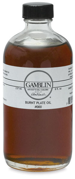 Gamblin Burnt Plate Oil #000 - 237 ml