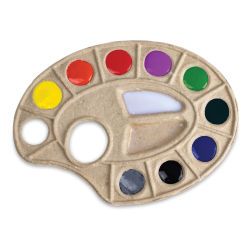 Toss Paint Plate Disposable Palette (Example of Use)