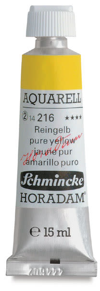 Schmincke Horadam Aquarell Artist Watercolor - Pure Yellow, 15 ml tube