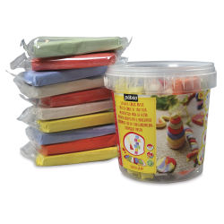 Pebeo Sidewalk Chalk Clay Pail, Pkg of 10