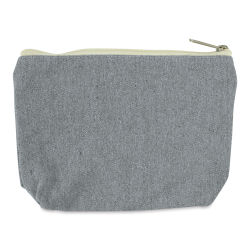 Recycled Canvas Zipper Pouch - With Gusset, 5½''L × 8''W × 2''D