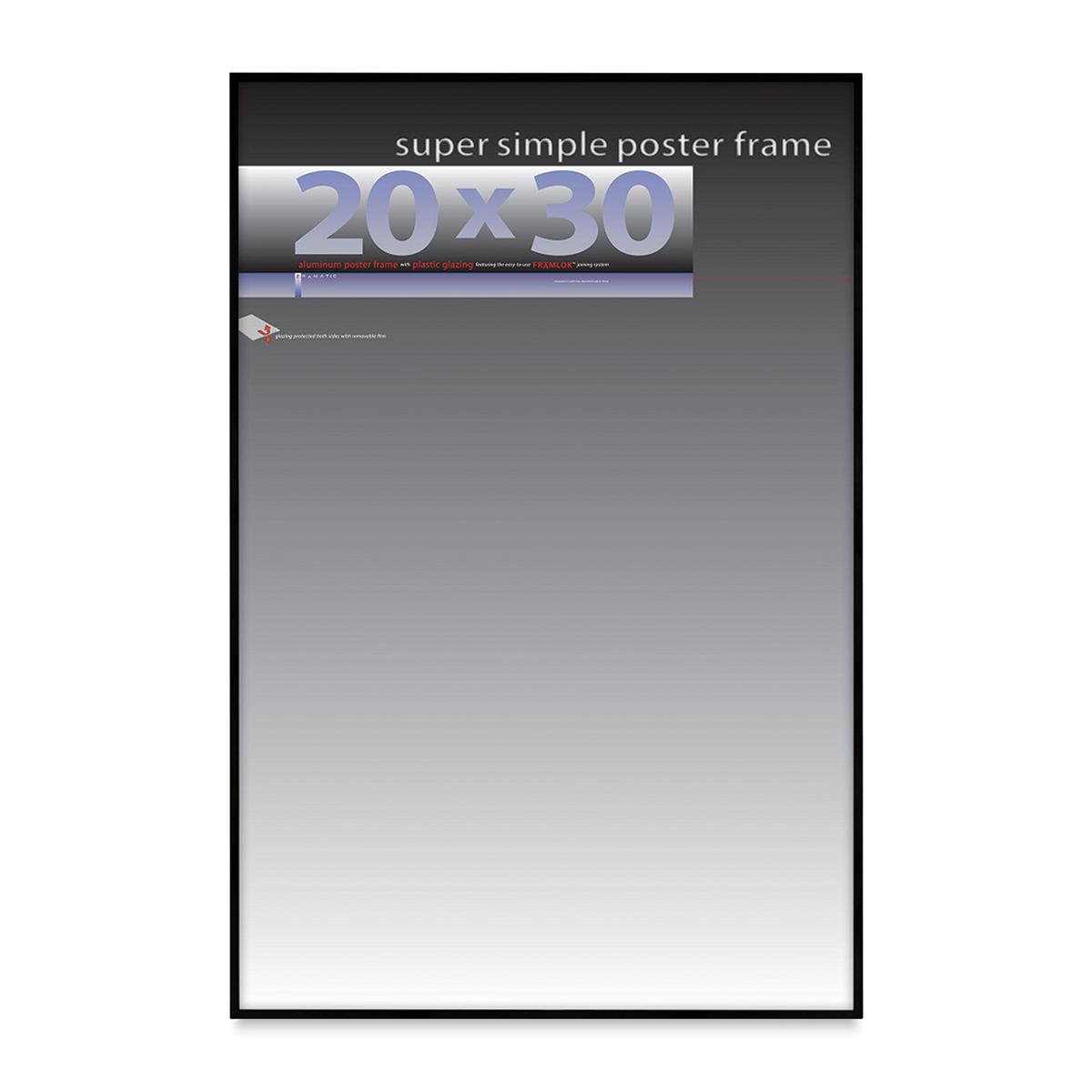 Framatic Super Simple Poster Frame - Black, 20 x 30