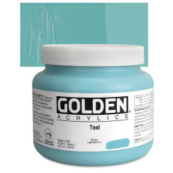 Golden Heavy Body Artist Acrylics - Teal, 32 oz Jar