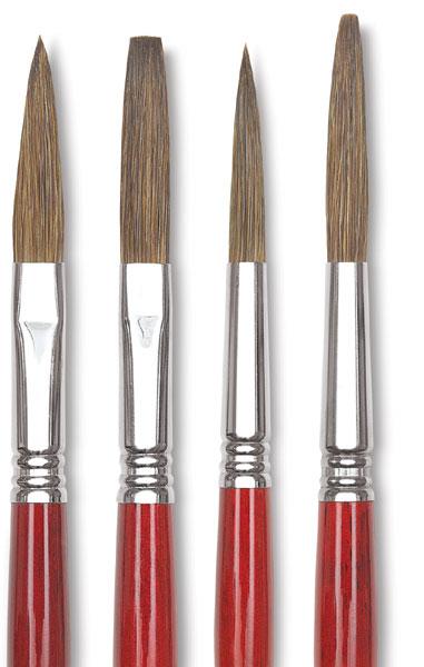 Escoda Light Ox Hair Lettering Brushes