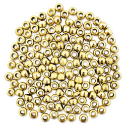 Craft Medley Pony Beads - Metallic Gold, Package of 150