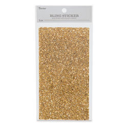 Darice Crackled Gem Sticker Sheet - Gold