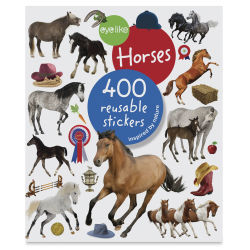 Eyelike Horses Reusable Stickers, Book Cover