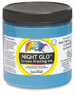 Speedball Night-Glo Colors - Blue, 8 oz