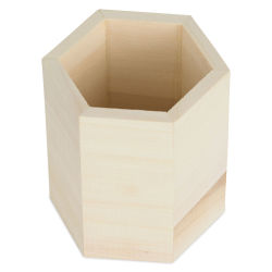MultiCraft Wood Desk Organizer - Hexagon