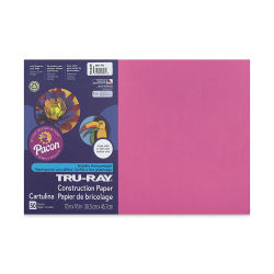 Pacon Tru-Ray Construction Paper - 12'' x 18'', Dark Pink, 50 Sheets