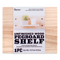 Darice Wood Pegboard System - Shelf, Small, 5'' x 6''