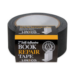 Lineco Spine Repair Tape - 2'' x 15 yards, Black, Cloth