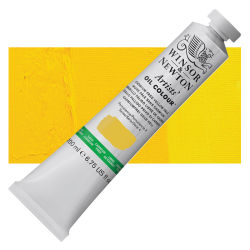 Winsor & Newton Artists' Oil Color - Cadmium Free Yellow Pale, 200 ml, Tube with Swatch