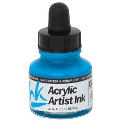 Vallejo Acrylic Artist Ink - Light Blue, 30 ml