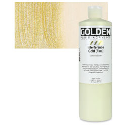 Golden Fluid Acrylics - Interference Gold (Fine), 16 oz bottle