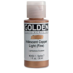 Golden Fluid Acrylics - Iridescent Copper Light (Fine), 1 oz bottle