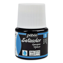 Pebeo Setacolor Fabric Paint - Black, Opaque, 45ml Bottle