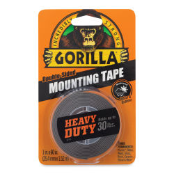 Gorilla Mounting Tape - Heavy Duty, Black, 1'' x 60''