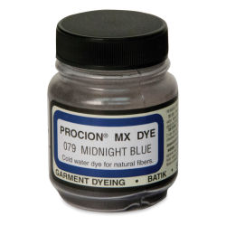 Jacquard Procion MX Fiber Reactive Cold Water Dye - Midnight Blue, 2/3 oz jar