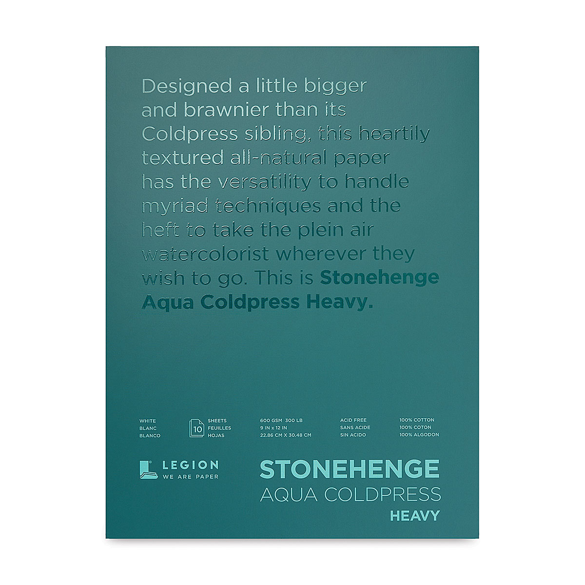 15 Sheets 140 Pound White Hot Press Stonehenge Aqua Watercolor Block 7 X 10 Inches