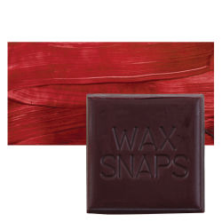 Enkaustikos Wax Snaps Encaustic Paints - Alizarin Gold, 40 ml, Cake with Swatch