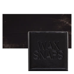 Enkaustikos Wax Snaps Encaustic Paints - Mars Black, 40 ml, Cake with Swatch