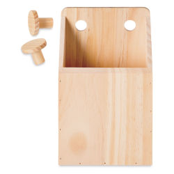 Darice Wood Pegboard System - Container, Medium, 8-3/4'' x 5-1/2''
