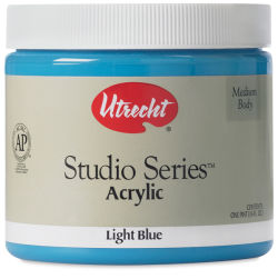 Utrecht Studio Series Acrylic Paint - Light Blue, Pint