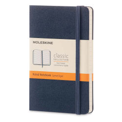 "Moleskine Classic Hardcover Notebook - Sapphire Blue, Ruled, 5-1/2"" x 3-1/2"""