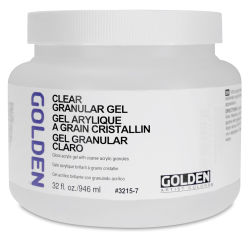 Golden Acrylic Gel Medium - Clear Granular, 32 oz jar