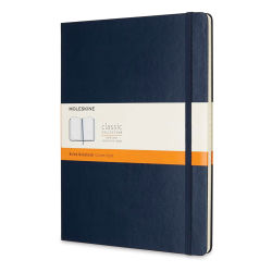 "Moleskine Classic Hardcover Notebook - Sapphire Blue, Ruled, 9-3/4"" x 7-1/2"""