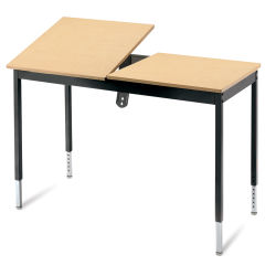 Smith System CAD Station Graphic Arts Table - Maple/Black, 24'' x 48''