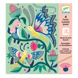 Djeco Pastel Scratch Boards Set - Fantasy Garden (In packaging)