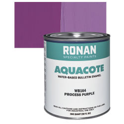 Ronan Aquacote Water-Based Acrylic Color - Process Purple, Quart