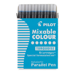 Pilot Parallel Pen Refill - Turquoise, Pack of 6